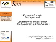 Vortrag auf dem Fachtag Ganztagsschulen in Stuttgart - Ganztägig ...