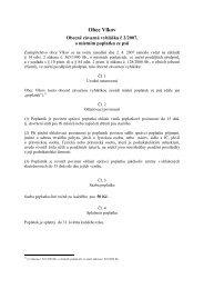 Vyhláška č. 2/2007