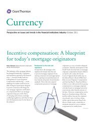 Incentive compensation: A blueprint for today's mortgage originators
