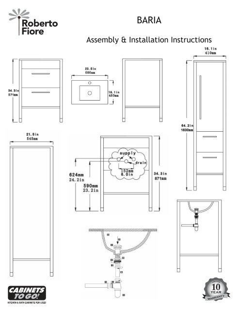 Assembly & Installation Instructions   Cabinets To Go