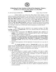 Chhattisgarh State Institute of Rural Development ... - Cgsird.gov.in