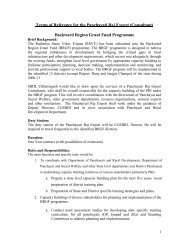 Terms of Reference for the Panchayati Raj Expert ... - Cgsird.gov.in