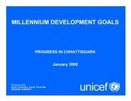 6.Mellenium Development Goal (Unicef) - Cgsird.gov.in