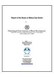 Study on Mahua Sub Sector - Cgsird.gov.in