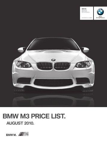 Price files (PDF) - BMW South Africa