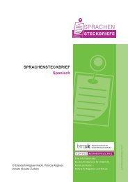 SPRACHENSTECKBRIEF Spanisch - Schule mehrsprachig