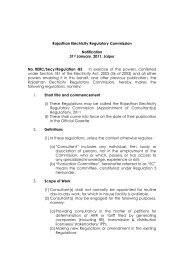 Appointment of Consultants Regulations - The Rajasthan Electricity ...