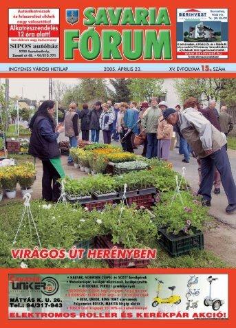 Safo15.qxd 4/22/05 8:47 AM Page 1 - Savaria Fórum