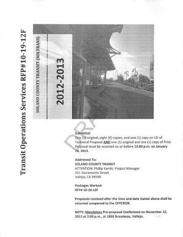 Agenda Item 7. Attachment A – DRAFT RFP for Transit ... - Soltrans