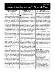 March 2003 - Dietary Supplement Regulation, Herbal Dietary ...