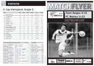 Team Aargau U-21 FC Wohlen U-23 MATCHFLYER - FC Aarau