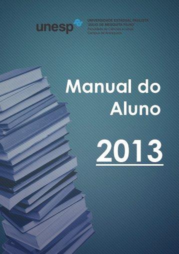 Manual do aluno - Faculdade de Ciências e Letras - Unesp
