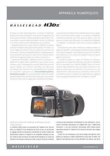 APPAREILS NUMÉRIQUES - Hasselblad