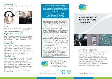 Condensation and Mould Growth - Contour Homes