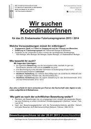 Köln, 7 - Fachschaft Biologie & Biochemie - Universität zu Köln