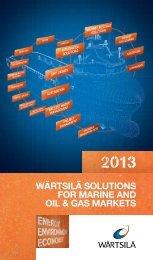 Wärtsilä Solutions for Marine and Oil&Gas; Markets 2013