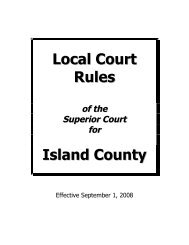 Island County Superior Court Local Rules - Island County Government