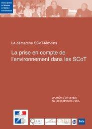 La prise en compte de l'environnement dans les SCoT - Urbamet