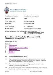 D286 - Devon & Cornwall Police