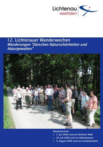 12. Lichtenauer Wanderwochen