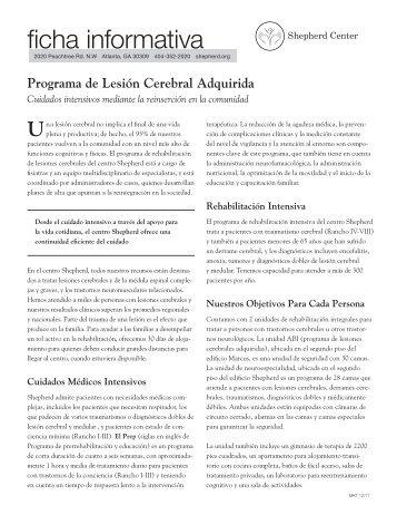 Programa de Lesión Cerebral Adquirida