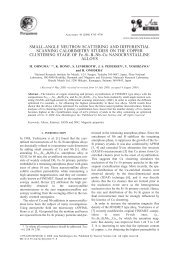 SMALL-ANGLE NEUTRON SCATTERING AND DIFFERENTIAL ...