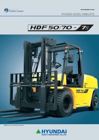HDF50_70-7S brochure (en) - HYUNDAI DIESEL FORKLIFTS