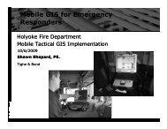 Mobile GIS for Emergency Responders
