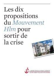Les 10 propositions du mouvement HLM pour sortir de la crise