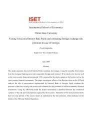 Testing Uncovered Interest Rate Parity and Estimating ... - ISET