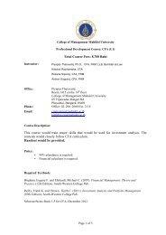 MGMG-507 Course Syllabus - Inside CMMU - Mahidol University