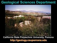 Why Cal Poly Geology? - Geological Sciences - Cal Poly Pomona