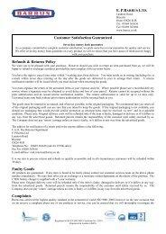 Customer Satisfaction Guaranteed Refunds & Returns ... - EP Barrus