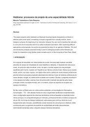 Habitares: processos de projeto de uma ... - Nomads.usp