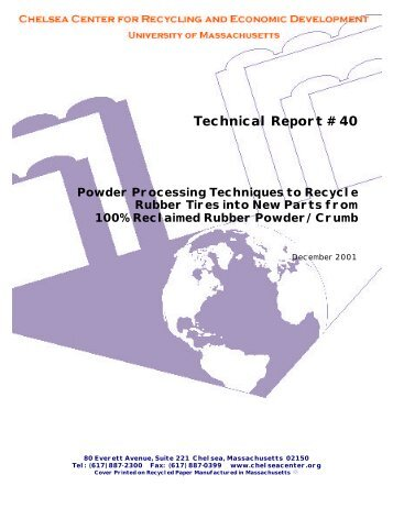 Technical Report # 40 - Chelsea Center for Recycling and Economic ...
