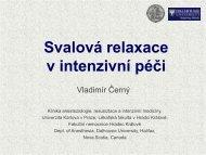 Svalová relaxace v intenzivní péči - Česká společnost ...