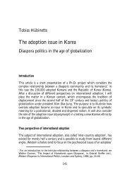 The adoption issue in Korea - Tobias Hübinette