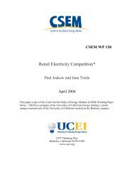 Retail Electricity Competition* - University of California Energy Institute