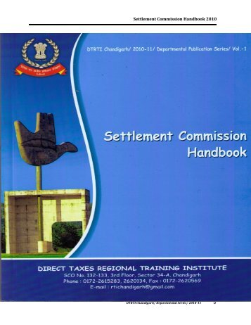 Settlement Commission Manual - National Academy of Direct Taxes