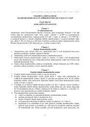 návrhem nového Volebního a jednacího řádu PřF UJEP