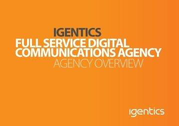 IGENTICS FULL SERVICE DIGITAL COMMUNICATIONS AGENCY ...