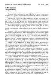 In Memoriam: - CG Jung Institute of New York
