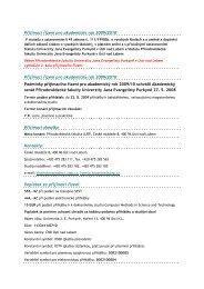 Přijímací řízení pro akademický rok 2009-2010 2_kolo
