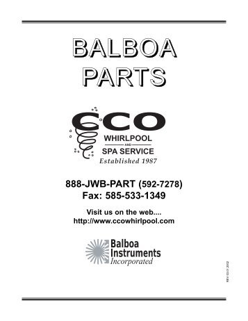 Balboa - CCO Whirlpool and Spa Service