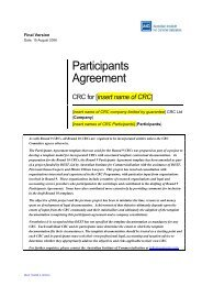 CRC Participation Agreement Final - The Australian Institute for ...