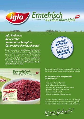Iglo Rotkraut - bei Iglo Gastronomie!
