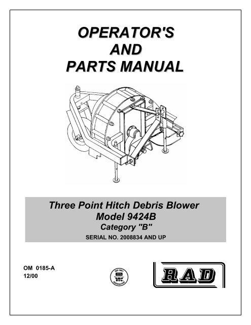 9424B Debris Blower manual - JS Woodhouse