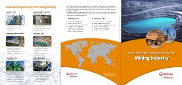 Mining Industry - Veolia Water Solutions & Technologies