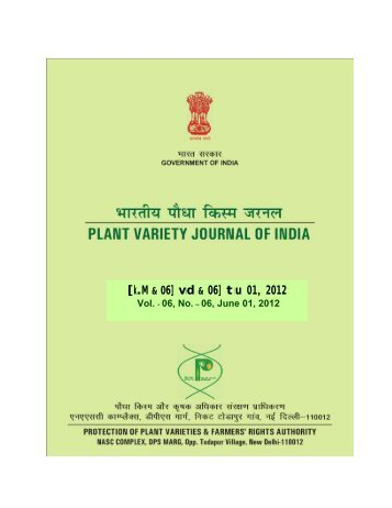[k.M & 06] vad & 06] twu 01, 2012 - Protection of Plant Varieties ...