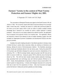 Variety - Protection of Plant Varieties & Farmers
